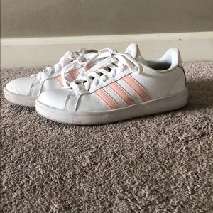Pink classic style adidas with cloud memory foam